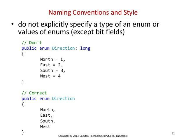 C#, .NET, Java - General Naming and Coding Conventions