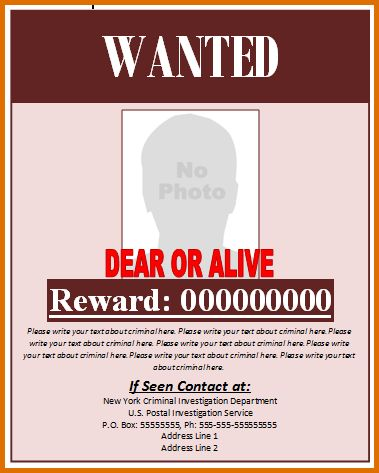 wanted poster template microsoft wordReference Letters Words ...