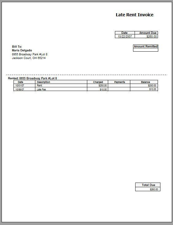 Rental Invoice Template | free to do list