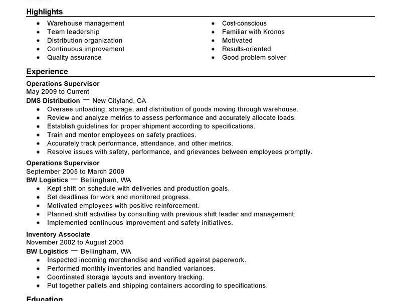 Creative Design Shift Leader Resume 14 Best Shift Manager Resume ...