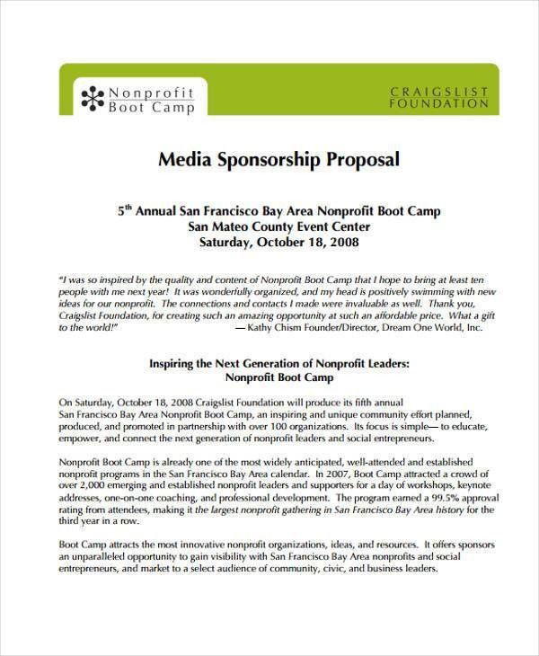 11+ Sponsorship Proposal Examples | Free U0026 Premium Templates