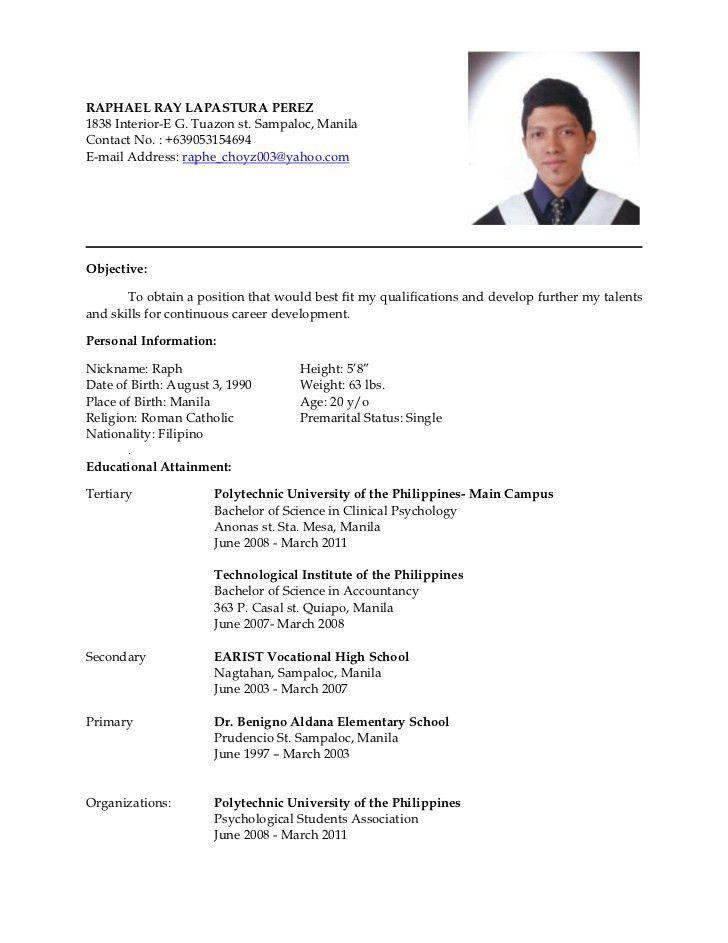 example resume format sample bcom graduate resume template