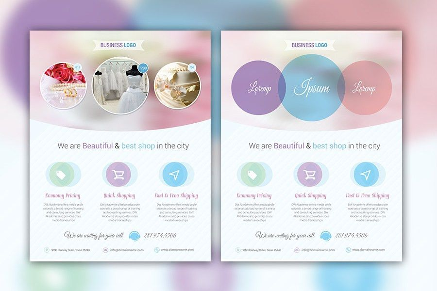 Feminine Business & Product Marketing Flyer Template
