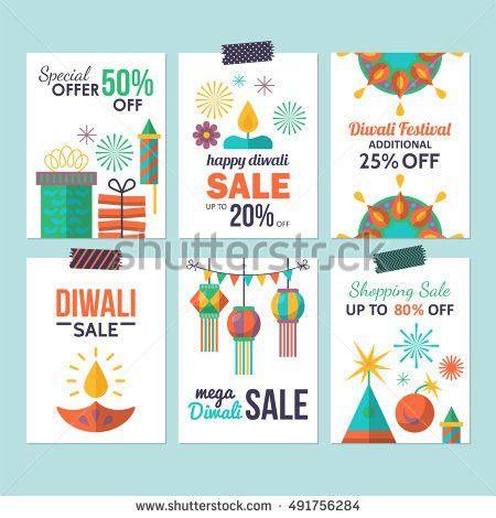 Diwali Hindu Festival Sale Flyer Design Stock Vector 491756284 ...