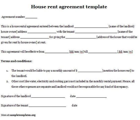 Printable Sample Rent Lease Agreement Form   Real Estate Forms .