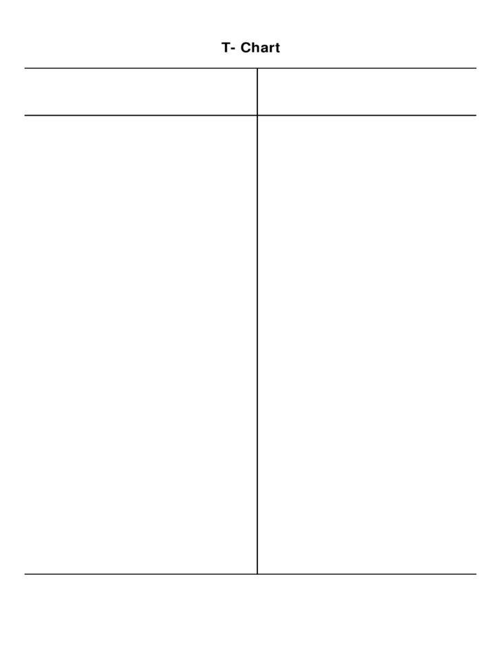 Simple T Chart Free Download