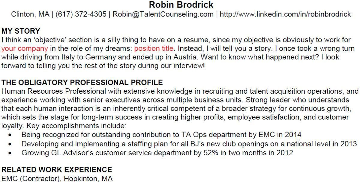 Use the Risky Résumé Strategy to Land an Interview! | Robin ...