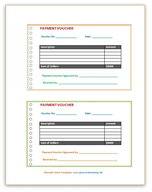 Free Word Templates: Payslip Template