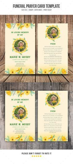 Folded Funeral Template | My Sweet Momma | Pinterest | Funeral