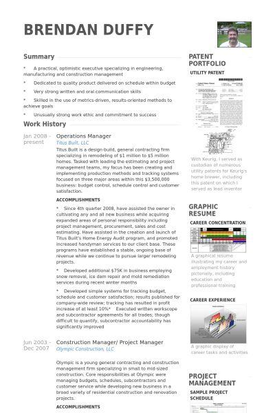 Operations Manager CV Örneği - VisualCV Özgeçmiş Örnekleri Veritabanı