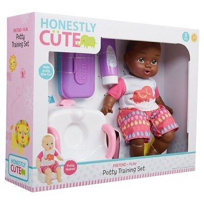 Honestly Cute Baby Potty Training Set African American : Target