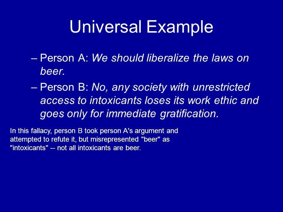 DA STRAW MAN The straw man fallacy occurs when person B takes ...