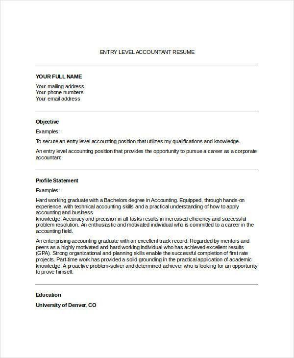 31+ Accountant Resume Designs | Free & Premium Templates