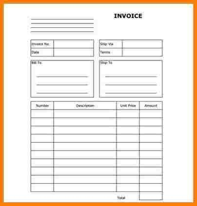 8+ generic blank invoice | sample of invoice