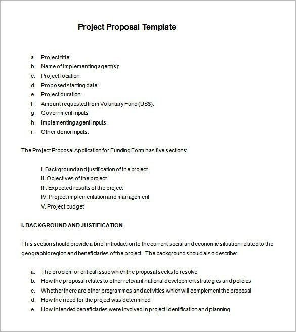 Beautiful Sample Project Proposal Template Free Ideas - Best ...