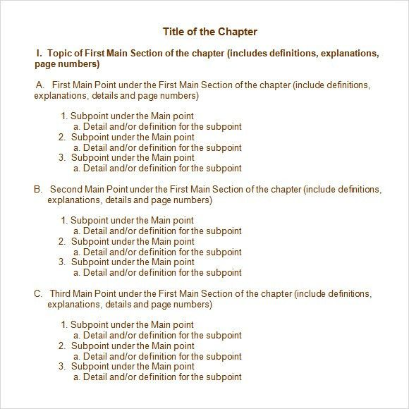 Sample Chapter Summary - 5+ Documents in PDF, Word
