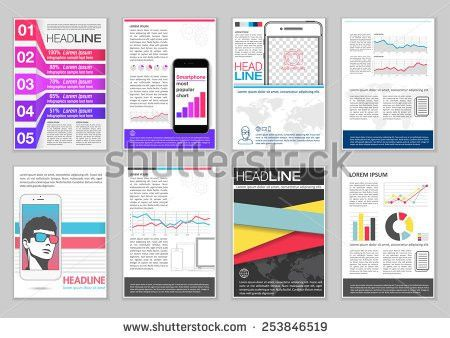 Presentation Templates Business Brochures Layout Design Stock ...