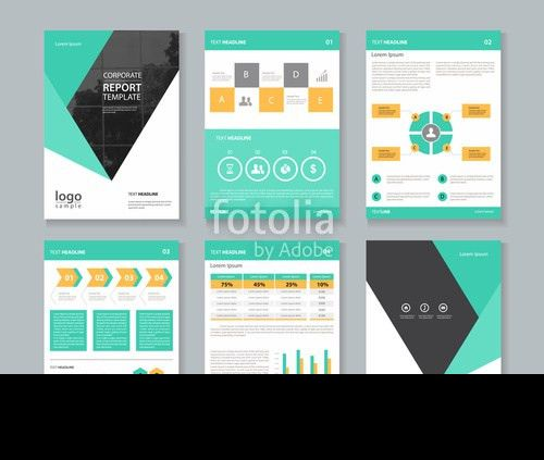 company profile ,annual report , brochure , flyer, layout template ...