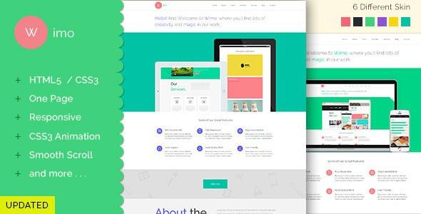 Wimo - One Page Responsive HTML Template by asimag | ThemeForest