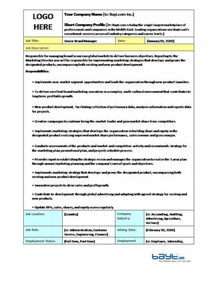 Job Description Templates   Ready-Made Office Templates