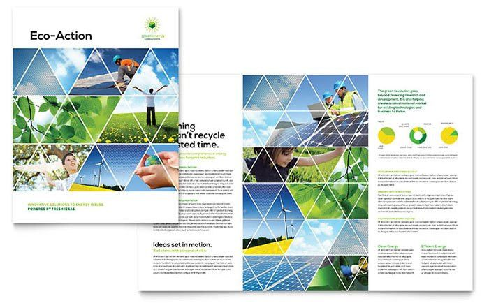 Green Energy Consultant Brochure Template - Word & Publisher