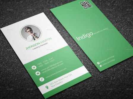 Indigo Business Card Template | Business Card Critic - Rate Your ...