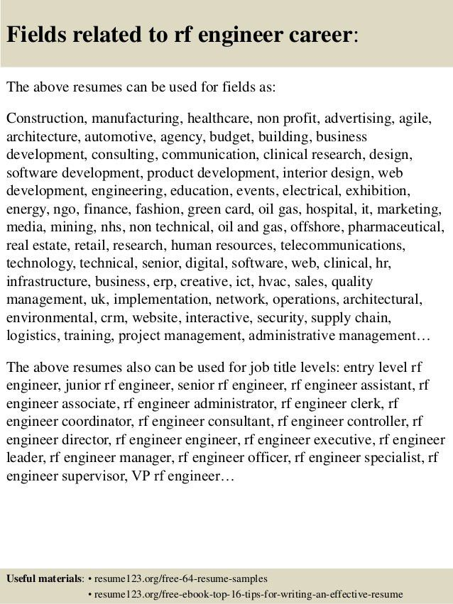 rf engineer resume sample top 8 rf engineer resume samples top 8