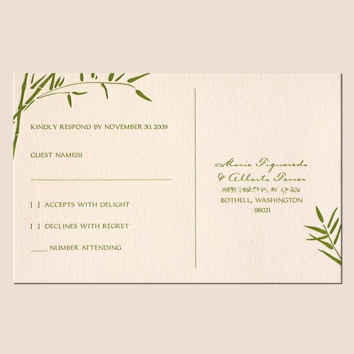 Wedding Invitations And Rsvp | HASKOVO.ME