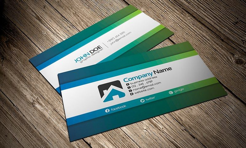 Simply Creative Business Card Template » Free Download » CV00001