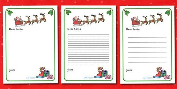 Writing Christmas Letter - Letter Template