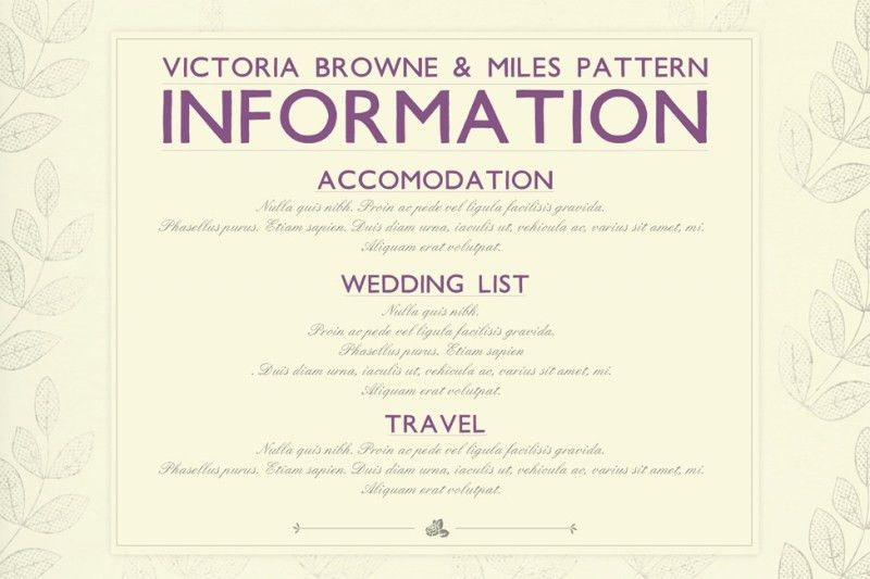 Wedding Information Card Template | wblqual.com