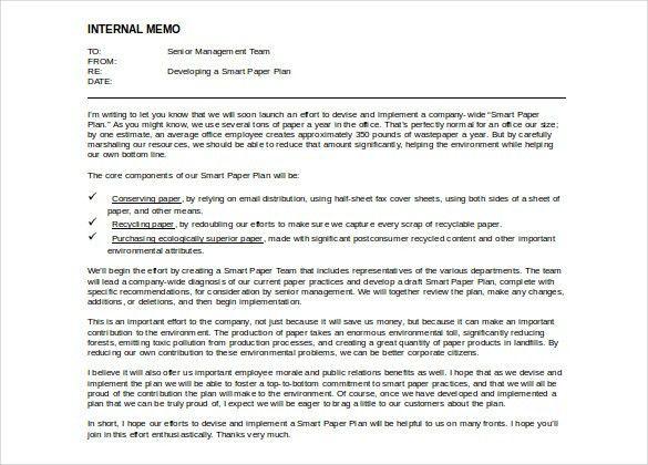 Internal Memo Templates   6 Free Word, PDF Documents Download .