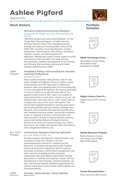 Instructional Designer Resume samples - VisualCV resume samples ...