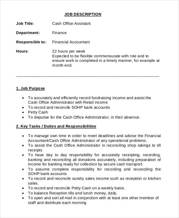 office assistant job description accounting office assistant job