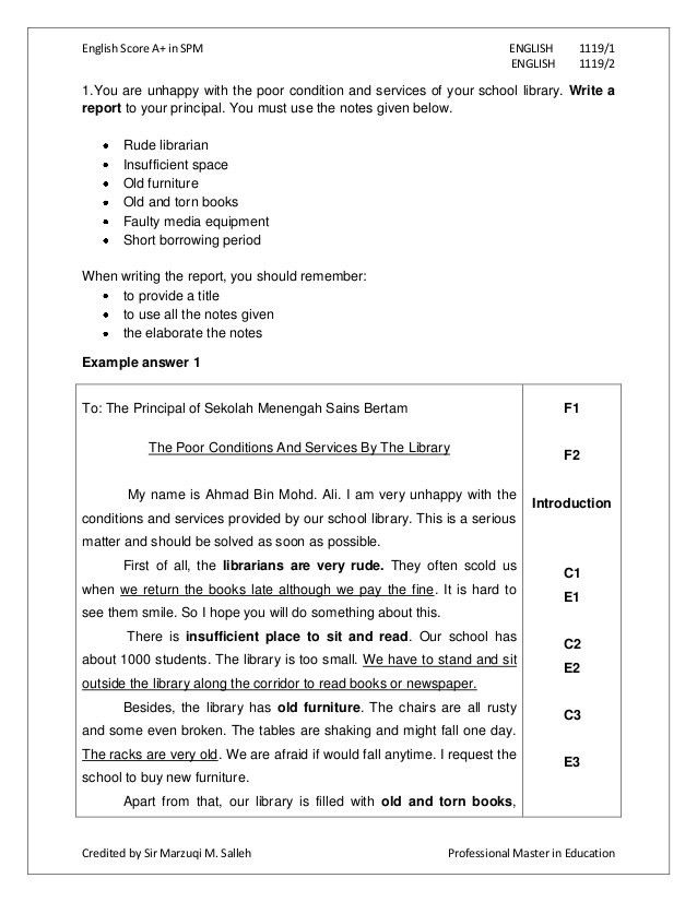 Example of formal report layout | Sample paper proposal mla