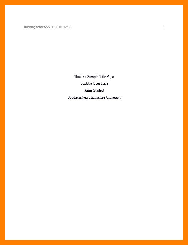 6+ apa title page in apa format | resumes great
