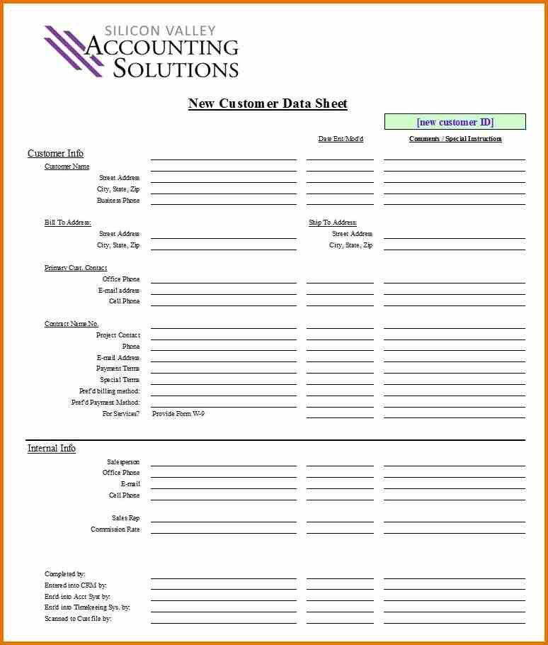 12+ customer information form template | plantemplate.info