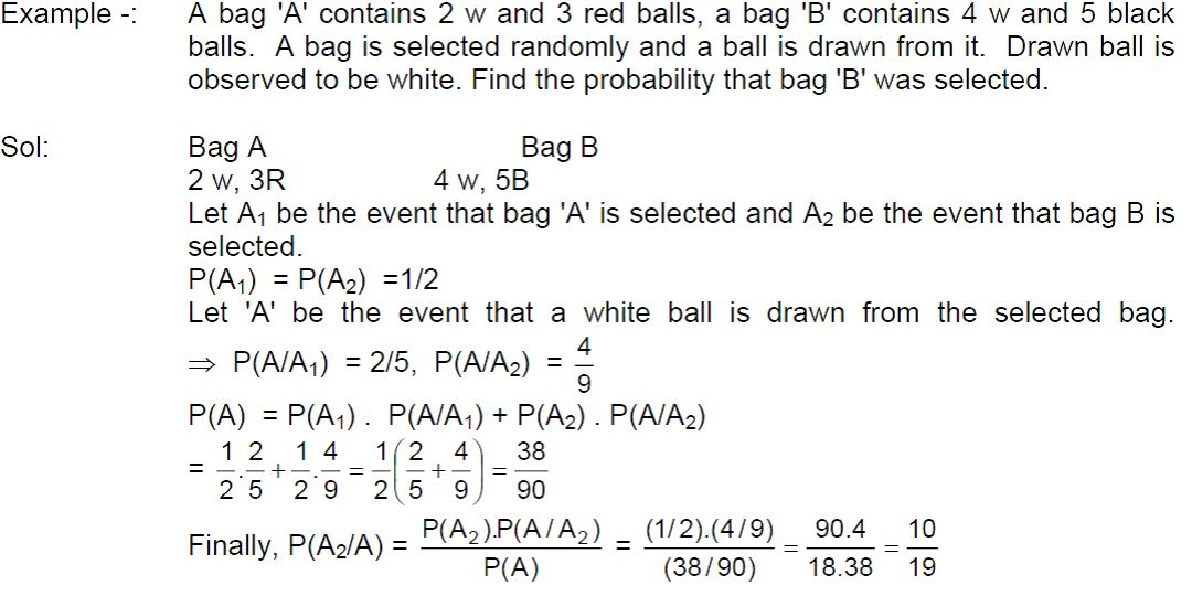 Class 12 Maths Notes: Probability – Bayes' Theorm | AglaSem Schools