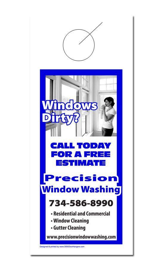 Window Cleaning Door Hanger Samples