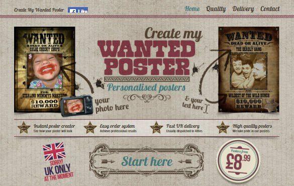 13+ Wanted Poster Generators, Makers & Tools | Free & Premium ...