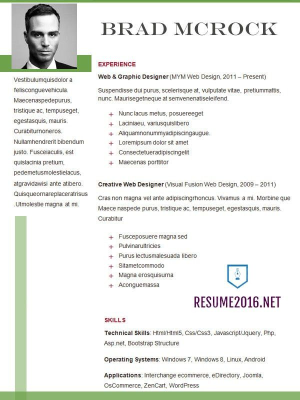 resume format 2016 12 free to download word templates. newest ...