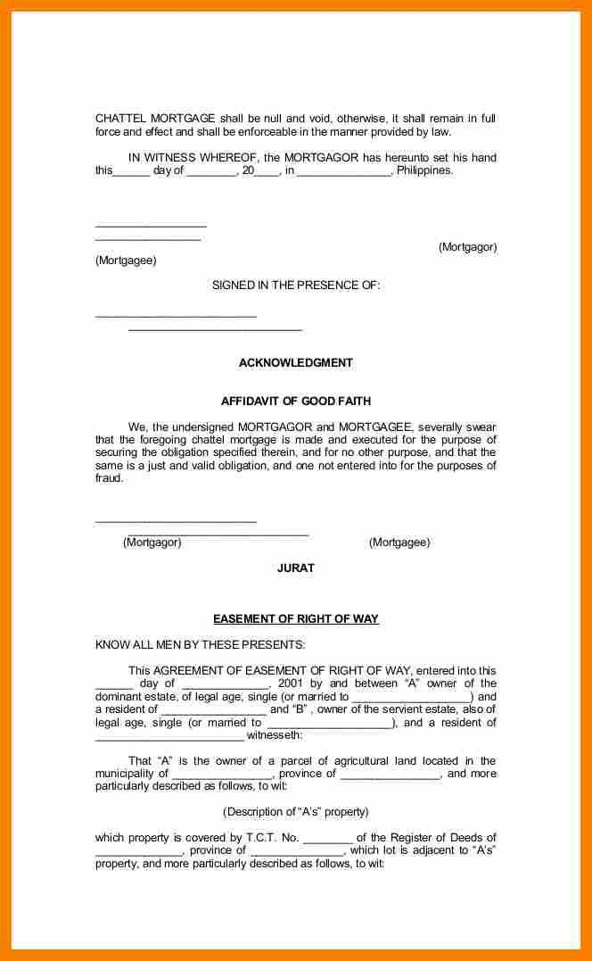 Rent Free Letter Template For Mortgage.legal Forms Of Philippines ...