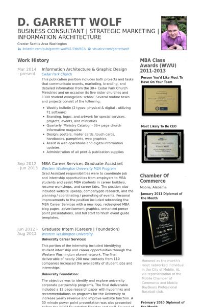 Design Resume samples - VisualCV resume samples database