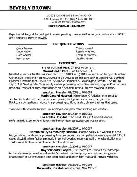 Download Surgical Tech Resume | haadyaooverbayresort.com