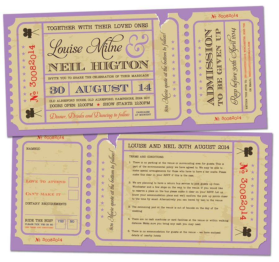 Doc.#600180: Create Your Own Movie Ticket – Make your own movie ...