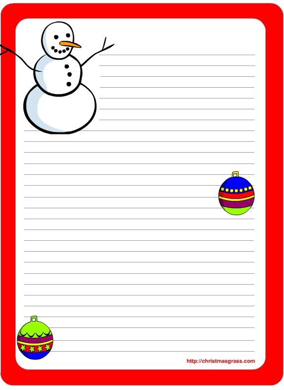 Free Printable Christmas and Holiday Stationery