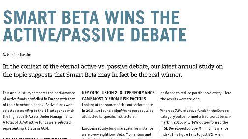Lyxor ETFs - Financial Investigator: Smart Beta wins the Active ...