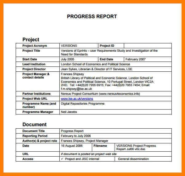 Project Progress Report. Project Status Report (Red And Black ...