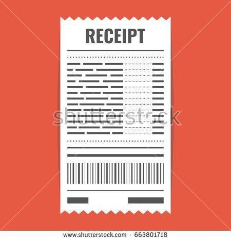 Receipt Icon Invoice Sign Bill Atm Stock Vector 664738420 ...