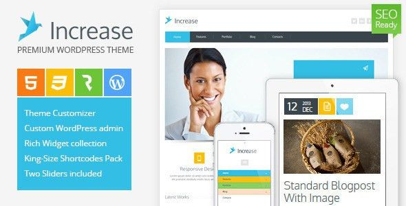 Increase - Premium Business WordPress Theme by cmsmasters ...